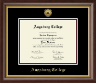 Augsburg College Diploma Frame - Gold Engraved Medallion Diploma Frame in Hampshire