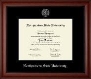 Northeastern State University Diploma Frame - Silver Embossed Diploma Frame in Cambridge
