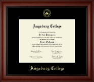 Augsburg College Diploma Frame - Gold Embossed Diploma Frame in Cambridge