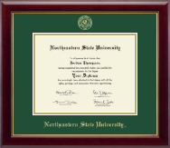 Northeastern State University Diploma Frame - Gold Embossed Diploma Frame in Gallery