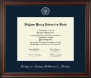 Brigham Young University Idaho Diploma Frame - Silver Embossed Diploma Frame in Studio