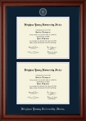 Brigham Young University Idaho Diploma Frame - Double Document Diploma Frame in Cambridge