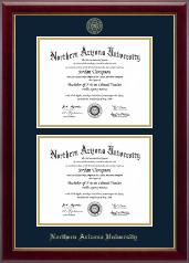 Northern Arizona University Diploma Frame - Double Document Diploma Frame in Gallery