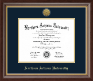 Northern Arizona University Diploma Frame - Gold Engraved Medallion Diploma Frame in Hampshire