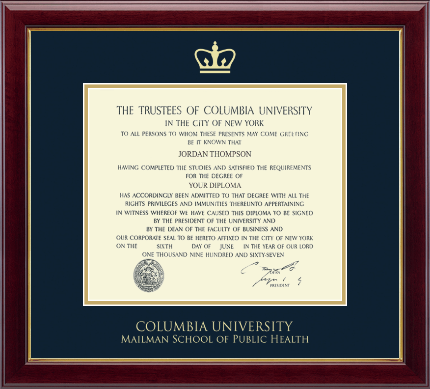 Columbia University Medical Center Gold Embossed Diploma Frame In Gallery Item 237476 Cmp From Columbia University Medical Center