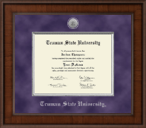 Truman State University Diploma Frame - Presidential Silver Engraved Diploma Frame in Madison