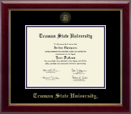 Truman State University Diploma Frame - Gold Embossed Diploma Frame in Gallery