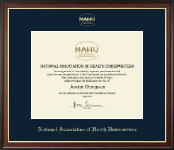 National Association of Health Underwriters Certificate Frame - Gold Embossed Certificate Frame in Studio Gold