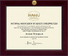 National Association of Health Underwriters Certificate Frame - Century Gold Engraved Certificate Frame in Cordova