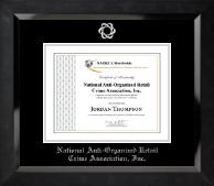National Anti-Organized Retail Crime Association, Inc. Certificate Frame - Silver Embossed Certificate Frame in Eclipse
