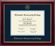Tidewater Community College Diploma Frame - Gold Embossed Diploma Frame in Gallery