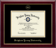 Brigham Young University Utah Diploma Frame - Gold Embossed Diploma Frame in Gallery