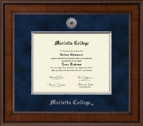 Marietta College Diploma Frame - Presidential Silver Engraved Diploma Frame in Madison