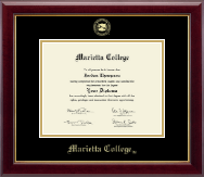 Marietta College Diploma Frame - Gold Embossed Diploma Frame in Gallery
