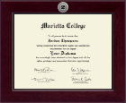 Marietta College Diploma Frame - Century Silver Engraved Diploma Frame in Cordova