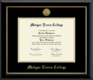 Medgar Evers College Diploma Frame - Gold Engraved Medallion Diploma Frame in Onyx Gold