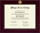 Medgar Evers College Diploma Frame - Century Gold Engraved Diploma Frame in Cordova