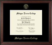 Medgar Evers College Diploma Frame - Gold Embossed Diploma Frame in Studio