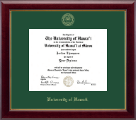 University of Hawaii at Manoa Diploma Frame - Gold Embossed Diploma Frame in Gallery