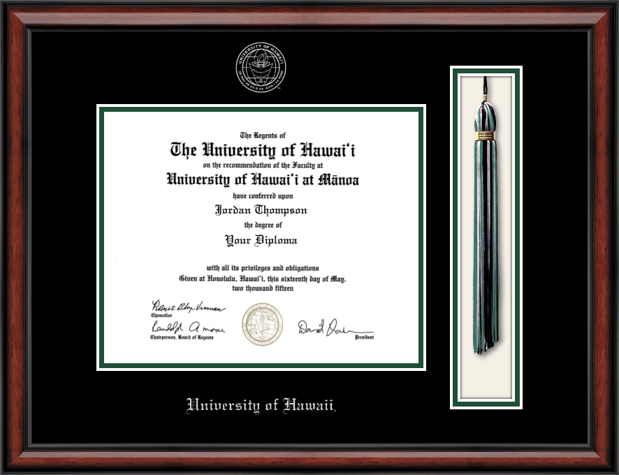 University Of Hawaii At Manoa Tassel Edition Diploma Frame In Southport
