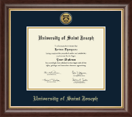 University of Saint Joseph in Connecticut Diploma Frame - Gold Engraved Medallion Diploma Frame in Hampshire