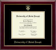 University of Saint Joseph in Connecticut Diploma Frame - Gold Embossed Diploma Frame in Gallery