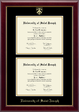 University of Saint Joseph in Connecticut Diploma Frame - Double Diploma Frame in Gallery