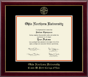Ohio Northern University Diploma Frame - Gold Embossed Diploma Frame in Gallery