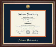 Auburn University Diploma Frame - Gold Engraved Medallion Diploma Frame in Hampshire