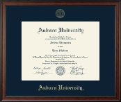 Auburn University Diploma Frame - Gold Embossed Diploma Frame in Studio