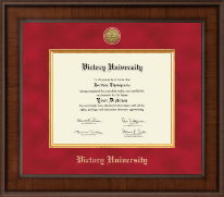 Victory University Diploma Frame - Presidential Gold Engraved Diploma Frame in Madison