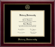 Victory University Diploma Frame - Gold Embossed Diploma Frame in Gallery