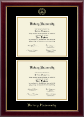 Victory University Diploma Frame - Double Document Diploma Frame in Gallery