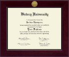 Victory University Diploma Frame - Century Gold Engraved Diploma Frame in Cordova