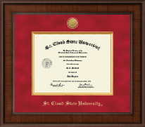 St. Cloud State University Diploma Frame - Presidential Gold Engraved Diploma Frame in Madison