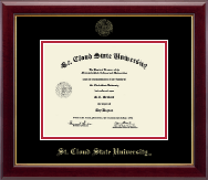 St. Cloud State University Diploma Frame - Gold Embossed Diploma Frame in Gallery