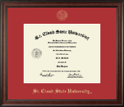 St. Cloud State University Diploma Frame - Gold Embossed Diploma Frame in Studio
