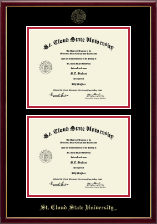 St. Cloud State University Diploma Frame - Double Diploma Frame in Galleria