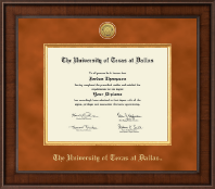 The University of Texas at Dallas Diploma Frame - Presidential Gold Engraved Diploma Frame in Madison