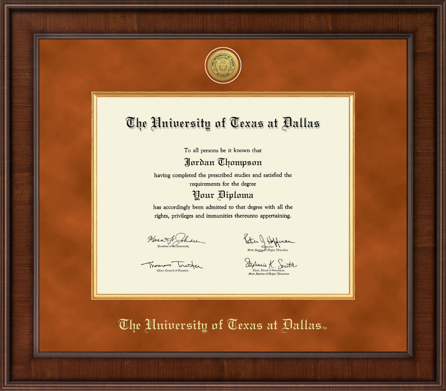 The University Of Texas At Dallas Presidential Gold