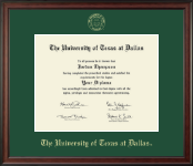 The University of Texas at Dallas Diploma Frame - Gold Embossed Diploma Frame in Studio
