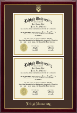 Lehigh University Diploma Frame - Double Diploma Frame in Gallery