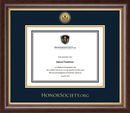 HonorSociety.Org Certificate Frame - Gold Engraved Medallion Certificate Frame in Hampshire