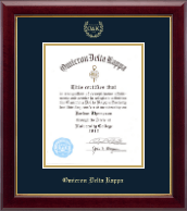 Omicron Delta Kappa Honor Society Certificate Frame - 8'x10' - Gold Embossed Certificate Frame in Gallery