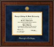 Georgia College Diploma Frame - Presidential Gold Engraved Diploma Frame in Madison