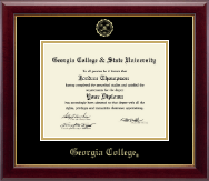 Georgia College Diploma Frame - Gold Embossed Diploma Frame in Gallery