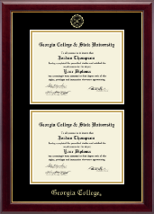 Georgia College Diploma Frame - Double Document Diploma Frame in Gallery