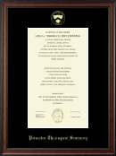 Princeton Theological Seminary Diploma Frame - Gold Embossed Diploma Frame in Studio