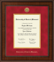 University of Central Missouri Diploma Frame - Presidential Gold Engraved Diploma Frame in Madison