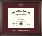 Arizona State University Diploma Frame - Gold Embossed Diploma Frame in Studio